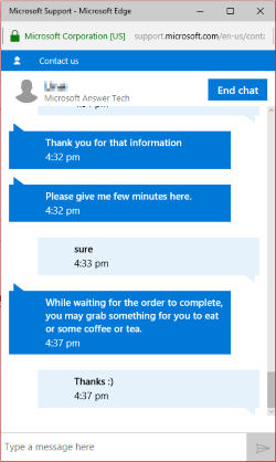 Microsoft Support Chat