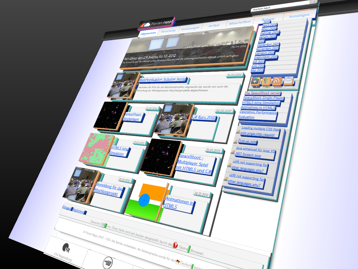 Homepage in 3D